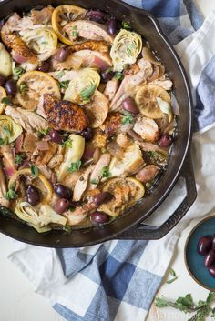 Crispy Chicken Stew with Lemon, Artichokes, Capers, and Olives Recipe ...