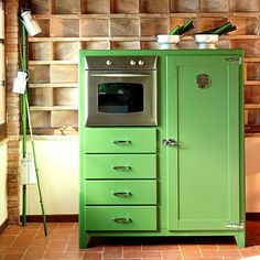 Vintage Inspired Refrigerators by Portobello Street ... yes this is a frig with an oven...check out the rest of the line...amazing!