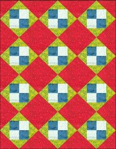 Arroyo Four Square Doll Quilt/Table Runner