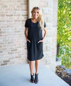 92d20251b37 Hannah Knit Front Pocket Dress Bella Ella Boutique