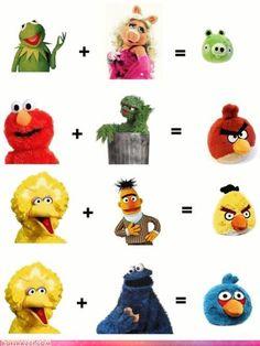 Origin of Angry Birds.