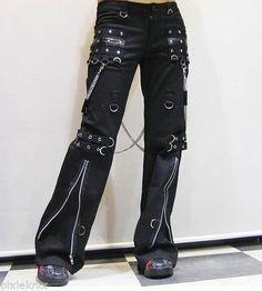 Unisex Punk Rave Visual Kei Bondage Trousers with Chains Goth Emo S M L XL XXL | eBay