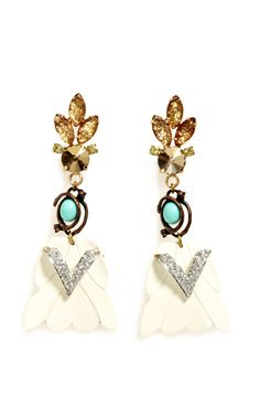 LULU FROST Lulu Frost One-Of-A-Kind 100 Year Vintage Earrings