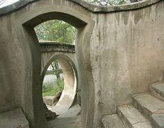 Series of stone doorways in China