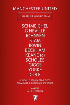 Manchester United, (Treble winning team, 1999)