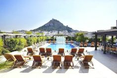 Hotel Grande Bretagne in Greece - Pool Bar - Lycabettus Hill View / Acropolis My Athens, Athens Hotel, Pool Bar, Attica Greece, Athens Greece, Places To Travel, Places To Go, Luxury Collection Hotels, Greece Hotels