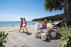 Relaxing on the beach in Noosa Heads
