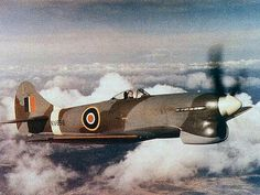 """In my opinion the most elegant fighter of WWII, the British Hawker Tempest Mk-V. I recommend the book """"The Big Show"""" from pierre Clostermann for a good account of the operations of this outstanding fighter. Ww2 Aircraft, Aircraft Photos, Fighter Aircraft, Military Aircraft, Fighter Pilot, Fighter Jets, Hawker Tempest, Hawker Typhoon, Ww2 Planes"""