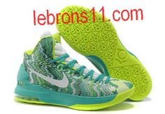 KD 5 Girls New Green Volt White Basketball Shoes for Womens