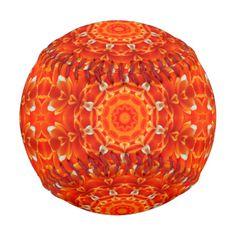 Orange flower petals kaleidoscope pattern.