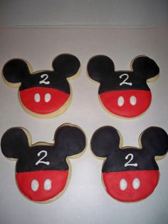 Mickey or Minnie Mouse Sugar Cookies by pinzy4 on Etsy, $26.00