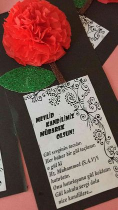 Mevlid Kandili Resimleri – Çok İyi Abi Board Decoration, L Love You, Mom Day, Paper Cards, Kids Education, Kids And Parenting, School Supplies, Special Day, Teacher Gifts