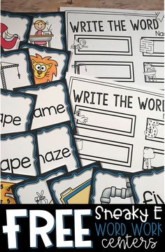 Whether you call it Sneaky E, Magic E, or something else entirely, your students likely need practice decoding these words. These centers are perfect! Word Work Stations, Word Work Centers, Literacy Stations, Reading Centers, Literacy Centers, Writing Centers, Art Centers, Kindergarten Language Arts, Kindergarten Literacy