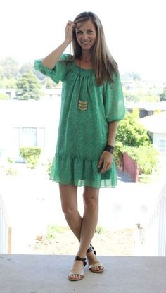 what i wore at the pleated poppy | soft floral dress in a vibrant green via @shopgracieb.com.com.com