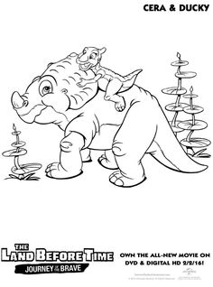 The Land Before Time coloring picture Leaving on a jet plane