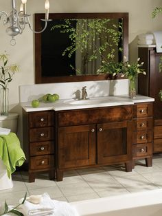 1000 images about dark bathroom cabinets on pinterest for Bertch kitchen cabinets review