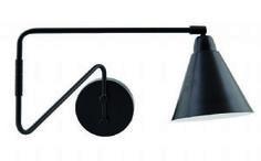 Area Black & White Industrial Swivel Wall Light