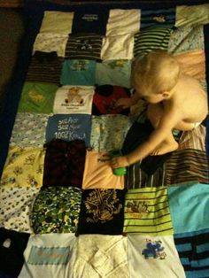 Memory Quilt tips - making one for each of the kids when they outgrow the cute little clothes!