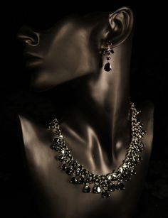 Black Jewelry Set Earrings and Necklace Black Cubic Zirconia Gold Plated | eBay