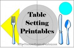 Table Setting Printables - excellent idea!