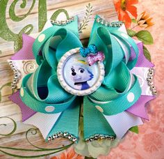 Everest Hair Bow/Paw Patrol Hair Bow/Everest Skye Paw Patrol Girls Hair Bow/Girls Hair Bow/Girly Curl Bow/Boutique Hair Bow/PP Inspired Bow by GirlyCurlBowtique on Etsy