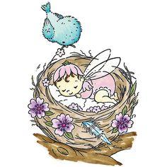 "tina wenke stamps baby fairy | Stampavie - Stampavie Tina Wenke Clear Stamp - A Fairy Baby 3-1/2"""