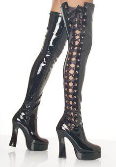Womens Cosplay Crossdresser Platform Mega Stiletto Heel Zip Boots UK Size 3-10