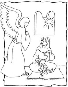 Day #2, Luke 1: 26,27. Have kids color in the picture.