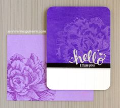 Stamping With Water Video by Jennifer McGuire Ink