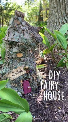 Fairy Tree Houses, Fairy Garden Houses, Gnome Garden, Fairy Village, Fairy House Crafts, Fairy Crafts, Garden Crafts, Garden Projects, Garden Art