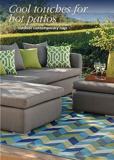 Cool touches for hot patios from Grandin Road.