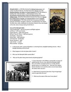 This Video Worksheet includes Video questions and a Key to accompany the Movie Memphis Belle.  Memphis Belle is a 1990 film directed by Michael Caton-Jones and written by Monte Merrick. The film featured an all-star cast with Matthew Modine, Eric Stoltz and Harry Connick Jr. (in his film debut) in leading roles.