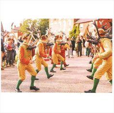 Abbots Bromley, Staffordshire - Horn Dance - postcard c.1980s