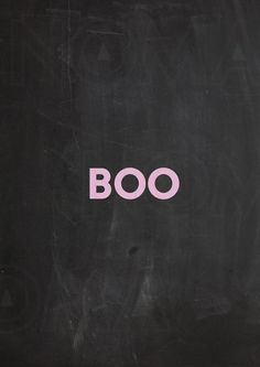Halloween printable poster Boo  by nomagraphicdesign