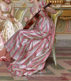 """""""La Soirée"""" (detail) by Vittorio Reggianini (1858-1938)."""