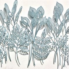 detail of my blue botanical papercut