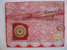 Happy Birthday Mom Handmade Card Red by DustbinCards on Etsy, $2.99