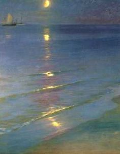 Summer Evening by P.S. Kroyer, colorful Danish painter, 1851-1909
