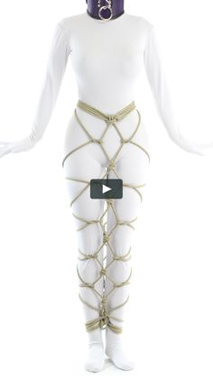 Restrict your partner's ability to walk at any real speed with a hobble skirt. This one is in the karada style and has many options! This video shows how… Japanese Rope, Hobble Skirt, Rope Tying, Rope Art, Sexy Heels, Collars, Legs, Clothes, Puppy Play