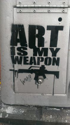 """Art is my weapon""  [follow this link to find a bundle of short clips and analyses related to art in sociology: http://www.thesociologicalcinema.com/1/category/artmusic8191dab93b/1.html]"