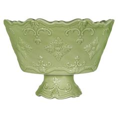 Add+a+pop+of+style+to+your+tablescape+with+this+lovely+serving+bowl,+showcasing+scrolling+details+and+a+scalloped+edge.+  Product:+