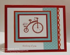 CC379 Bicycle Craze by stampinshauna - Cards and Paper Crafts at Splitcoaststampers