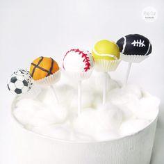 cake pops Sportbälle Cake Pops, Easy, Desserts, Handmade, Food, Sports, Cake Ideas, Tailgate Desserts, Hs Sports
