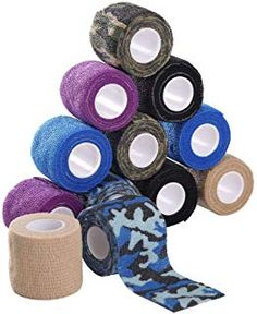 """Disposable Cohesive Tattoo Grip Cover Wrap,Self Adherent Wrap,Self Adhesive Tape,Cohesive Bandage Tape,New Star Tattoo 12pcs 2""""x 5 Yards,Elastic Bandage Handle Grip Tube for Tattoo Machine Grip -- You can get more details by clicking on the image. (This is an affiliate link) #tattoomachineparts Tattoo Machine Parts, New Star, Star Tattoos, Yards, Adhesive, Tape, Handle, Cover, Link"""