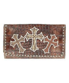 Look what I found on #zulily! Blazin Roxx Brown Three-Cross Kenzy Wallet by Blazin Roxx #zulilyfinds