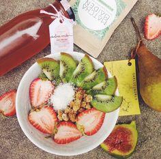 Un desayuno saludable. / A healthy breakfast.