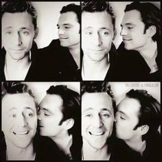 Tom Hiddleston and Sebatian Stan ~ Sweet kiss ♥  #tomhiddleston #sebastianstan