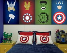 Decorating a Room for Your Grandchildren to Make Them Feel at Home Baby Boy Room Decor, Baby Boy Rooms, Baby Room, Superhero Room Decor, Marvel Bedroom, Kids Bedroom, Bedroom Decor, Comic Room, Baby Boy Themes