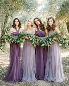 How about shades of violet in these amazing dresses for your bridesmaids? 😉 💗 Tag your girls to see if they like these ... . . Dresses by @jennyyoonyc, Photographer @thismodernromance, Florals @peonyandplum . . #weddingforward #weddingblog #weddingfashion #bridalfashion #bridalgown #veil #fashioninspo #свадебноеплатье #fashioninspo #vestido #abito #weddinggown #hautecouture #weddingdress #gownlove #gowninspo #lace #weddingday #weddings #weddingphotography #bridesmaids #weddinginspiration…