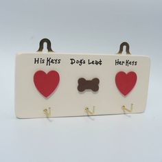 Personalised House Keys And Dog Lead Hooks from notonthehighstreet.com